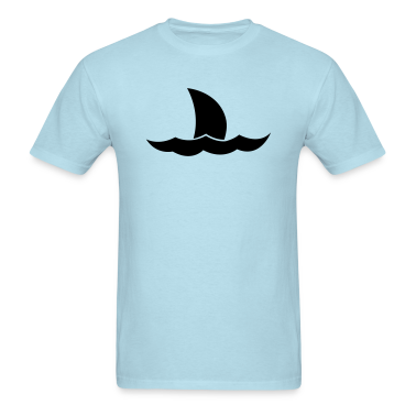 Shark Jaws tail on the ocean waves T-Shirts