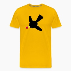 blackbird with a little love heart flying T-Shirts