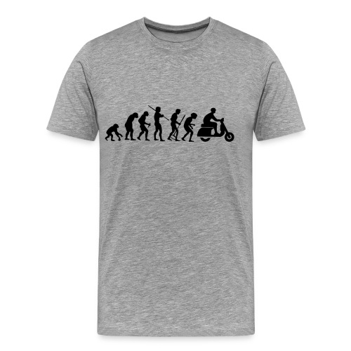 Motorcycle Rider Evolution Scooter Vespa - Men's Premium T-Shirt