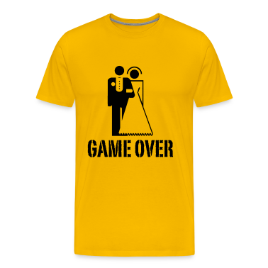 Game Over Bride Groom Wedding T-Shirts