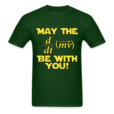 May The Force Be With You Physics Geek T-Shirts