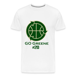 Donte Greene - Go Greene Tee (Green text) - Men's Premium T-Shirt