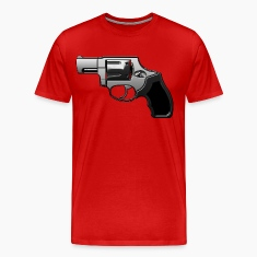 Revolver with many details in metallic look T-Shirts