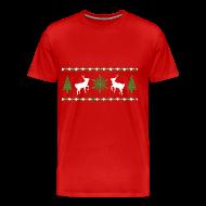 T-Shirts ~ Men's Premium T-Shirt ~ Ugly Christmas Sweater T-Shirt