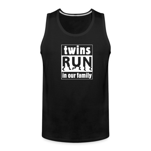 twins run in our family - Men's Premium Tank