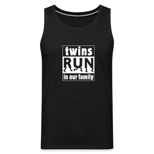 twins run in our family - Men's Premium Tank