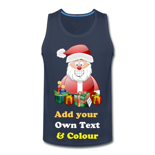 Father Christmas Merry Christmas With Presents - Men's Premium Tank