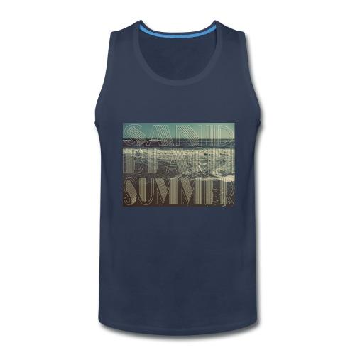 Sand, Beach, Summer Tank - Men's Premium Tank
