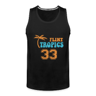 Sportswear ~ Men's Premium Tank ~ FLINT TROPICS Jersey Tan Top
