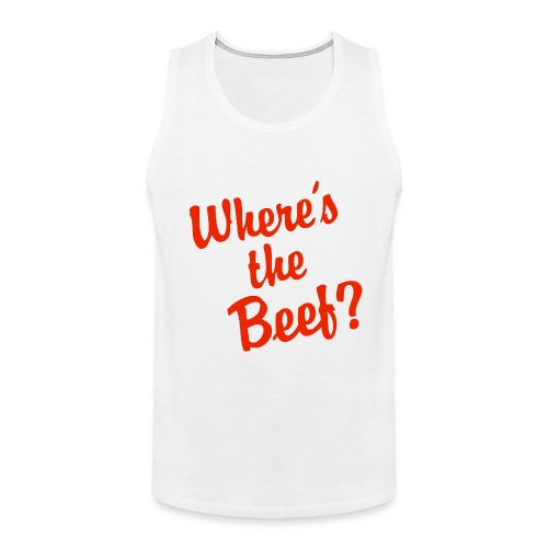 Where's the Beef Mens Tank Top - Men's Premium Tank