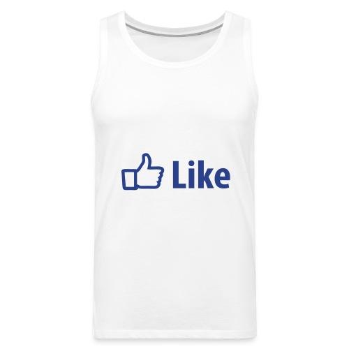 Facebook Tank White - Men's Premium Tank
