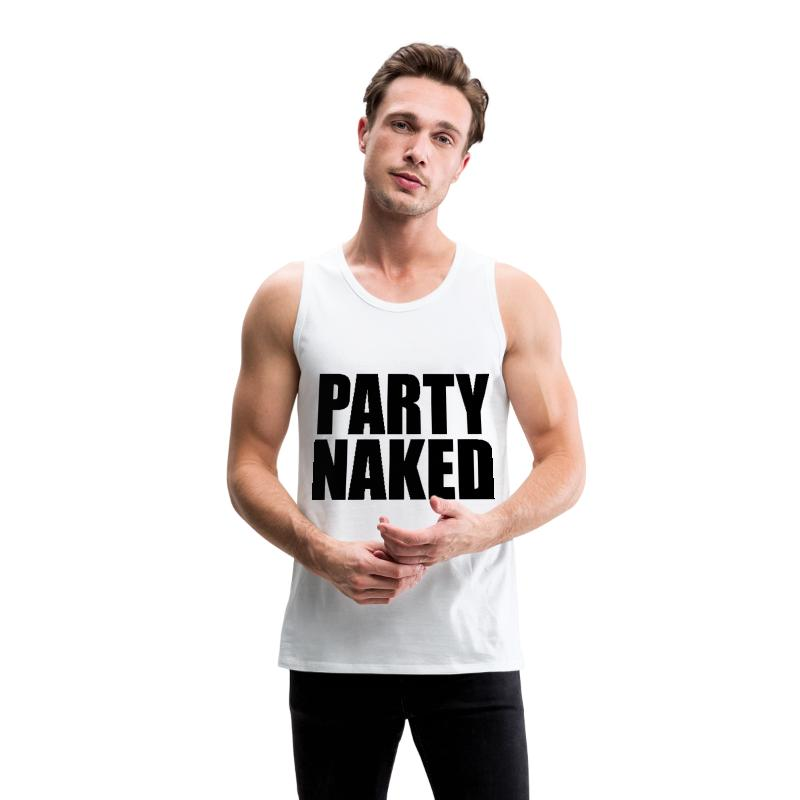Party Naked Funny College Design Tank Top  Spreadshirt-1967