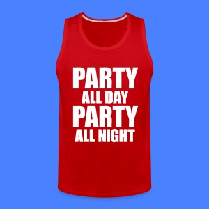 Party All Day Party All Night T-Shirts - stayflyclothing.com - Men's Premium Tank