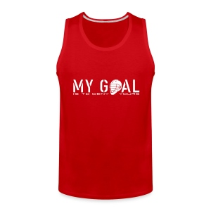 My Goal Is To Deny Yours (Lax) Men's Tank Top - Men's Premium Tank