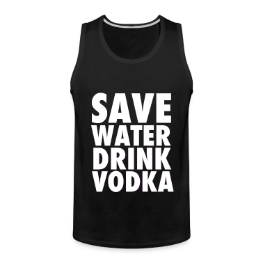 Save Water Drink Vodka Funny Party Neon Tanktop Sleeveless Shirt