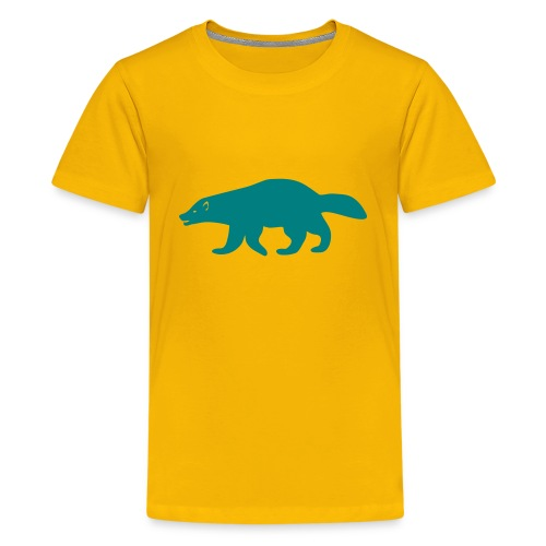 t-shirt wolverine glutton hog cormorant gannet eat greedy animal - Kids' Premium T-Shirt