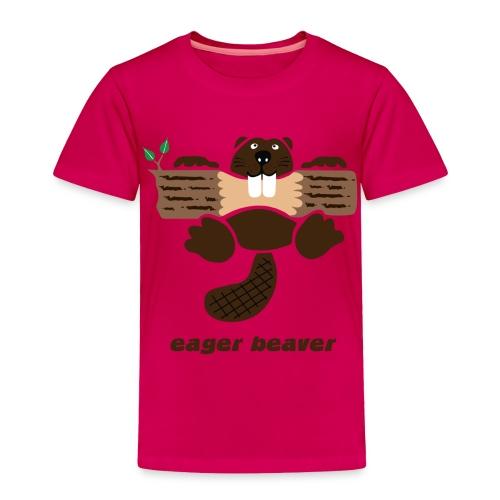 t-shirt beaver eager rodent otter wood forest teeth tree - Toddler Premium T-Shirt