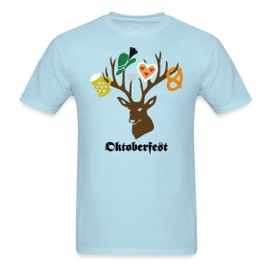 t-shirt oktoberfest bavaria munich germany stag party beer pretzel edelweiss T-Shirts - Men's T-Shirt