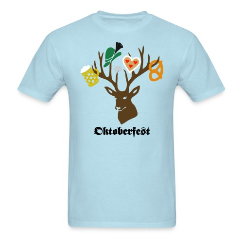 t-shirt oktoberfest bavaria munich germany stag party beer pretzel edelweiss T-Shirts - Men's T-Shirt
