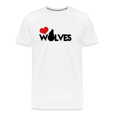 love wolves with type howling wolf T-Shirts