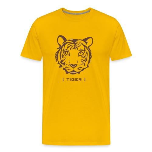 t-shirt tiger wild cat predator hunter hunting animal lion cheetah - Men's Premium T-Shirt