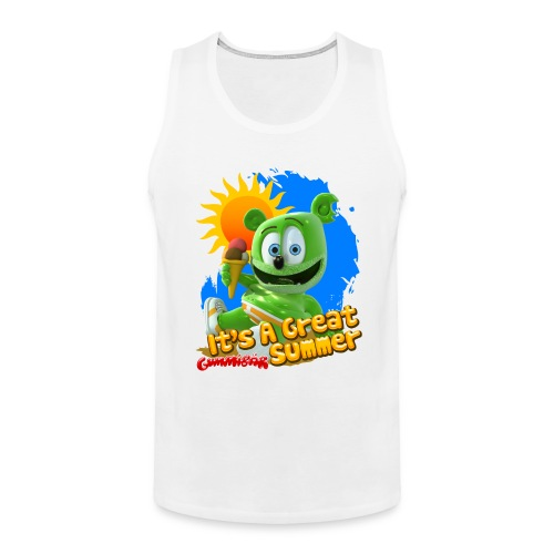 Gummibär (The Gummy Bear) It's A Great Summer Men's Tank Top - Men's Premium Tank