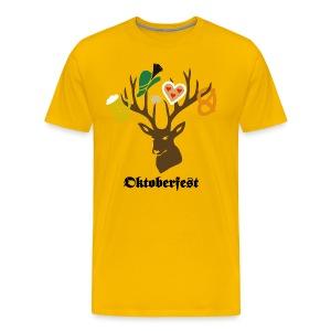 t-shirt oktoberfest bavaria munich germany stag party beer pretzel edelweiss T-Shirts - Men's Premium T-Shirt
