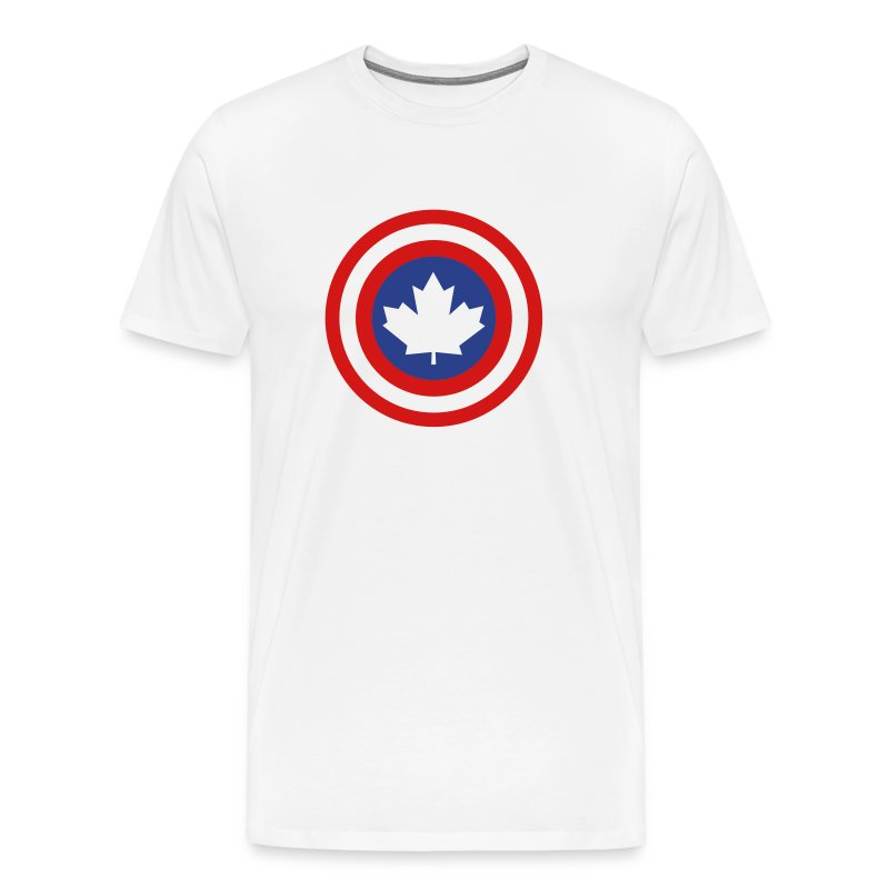 Captain Canada Shield 2 Colour - Men's Premium T-Shirt