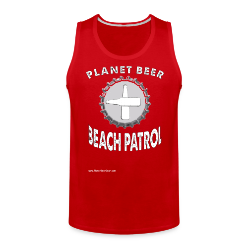 Planet Beer Beach Patrol Men's Tank Top - Men's Premium Tank