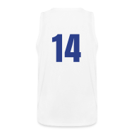 Tank Tops ~ Men's Premium Tank Top ~ Howard 14 Blue and White (Number On Back Also)