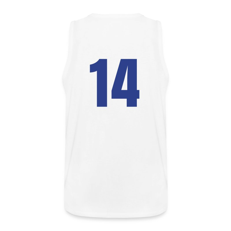 Howard 14 Blue and White (Number On Back Also) - Men's Premium Tank