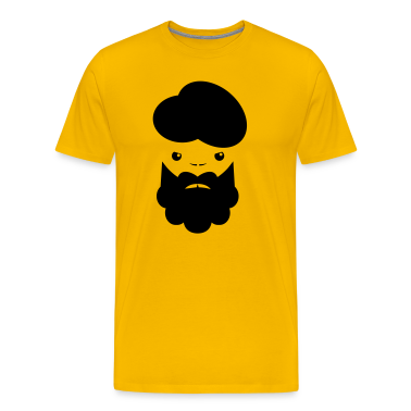 TURBIN MAN with beard angry T-Shirts