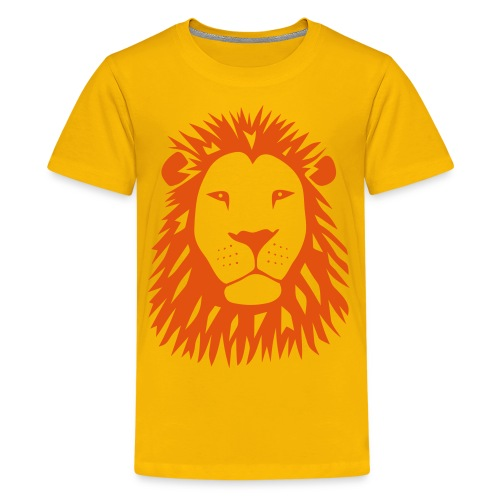 animal t-shirt lion tiger cat king animal kingdom africa predator simba strong hunter safari wild wildcat bobcat panther cougar - Kids' Premium T-Shirt
