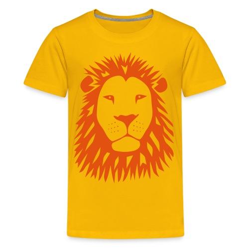 animal t-shirt lion tiger cat king animal kingdom africa predator simba strong hunter safari wild wildcat bobcat panther cougar - Kids' Premium T-Shirt