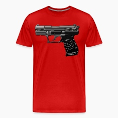 Weapon in cool 3d and metallic look with many details. T-Shirts