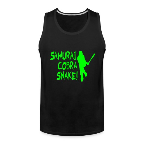 Samurai Cobra Snake! Tank - Black and Neon Green - Men's Premium Tank