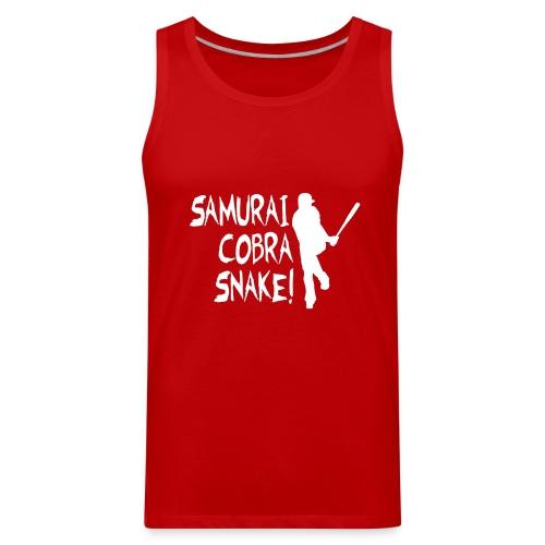 Samurai Cobra Snake! Tank - Red - Men's Premium Tank