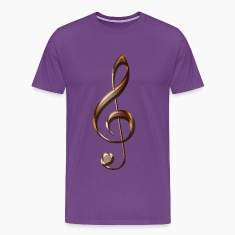 Music-lover Metallic-effect Treble Clef