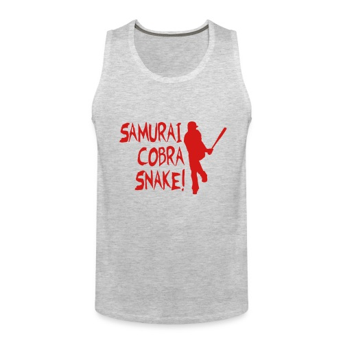 Samurai Cobra Snake! Tank - Heather Gray - Men's Premium Tank