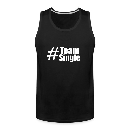Team Single Tank Top Black | #TeamSingle - Men's Premium Tank