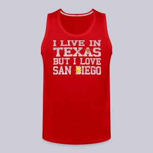 Live In Texas Love San Diego - Men's Premium Tank
