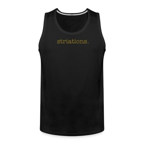 Striations.chesthair - Men's Premium Tank