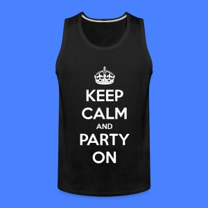 Keep Calm And Party On T-Shirts - stayflyclothing.com - Men's Premium Tank