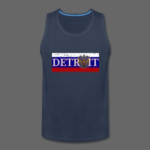 Detroit Russian Flag - Men's Premium Tank