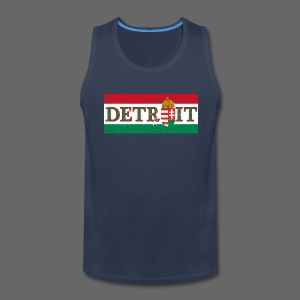 Detroit Hungarian Flag - Men's Premium Tank