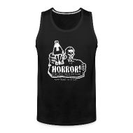 Sportswear ~ Men's Premium Tank ~ Dude's Tank - 40oz Of Horror Podcast Logo