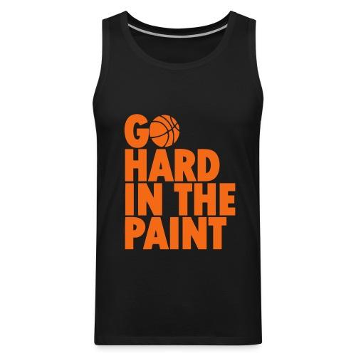Go Hard in the Paint Basketball Shirt - Men's Premium Tank