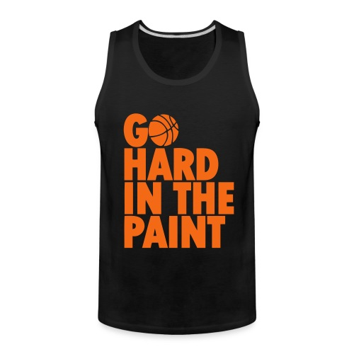 Go Hard in the Paint Basketball Shirt - Men's Premium Tank