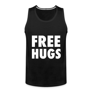 Free Hugs Design T-Shirts - Men's Premium Tank