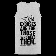 Sportswear ~ Men's Premium Tank ~ Excuses are for those | Mens Tank (back print)
